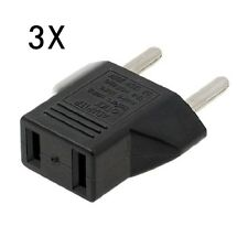 3x Universal 2 Pin USA To Asia India Europe South America Plug Converter Adapter