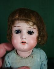 Antique German Bisque Head Doll in Original Factory Dress 13 inches