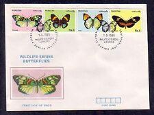 * Pakistan, Scott cat. 843 A-D. Butterflies on a First day cover.