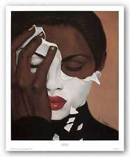 AFRICAN AMERICAN ART PRINT Face Reality Female mini Laurie Cooper