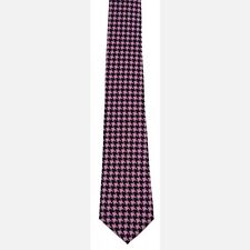 NEW MEN'S FORMAL PROM WEDDING PARTY PUNK NECKTIE TIE ~ PINK HOUNDS TOOTH #TI-503