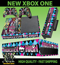 Console xbox one sticker monster high vampire Loup Zombie peau & 2 pad skins
