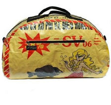 Recycled Fish Feed Deluxe Travel Bag 49cm Yellow Mermaid Fair Trade