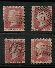 PENNY RED STARS Plate 48...4 stamps FINE USED..incl.308 ROLLER CANCEL