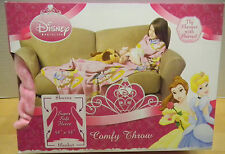 "Disney Princess Comfy Throw Fleece Blanket with Sleeves 48"" x 48"" NIB NEW"