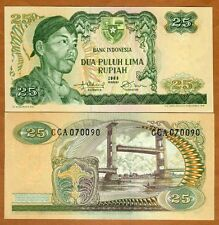 Indonesia, 25 Rupiah, 1968, P-106, UNC   General Sudirman