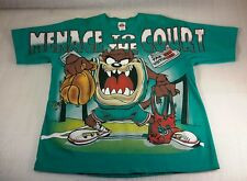 "Vintage Looney Tunes Taz Tazmanian Devil ""Mence To The Court"" T-Shirt Size Large"