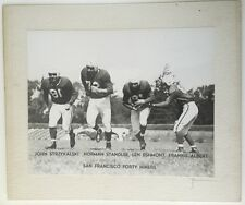 1940's San Francisco 49ers Original Photo Of Backfield By Romaine