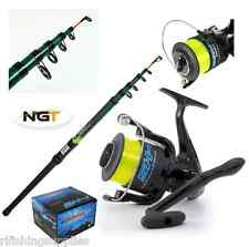 1 x LARGE 'SHIZUKA' SEA FISHING REEL + 1 x 12FT NGT TELESCOPIC BEACHCASTER ROD