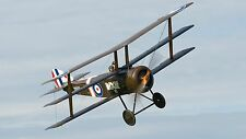 Sopwith Triplane Single Seat Fighter Aircraft Mahogany Wood Model Replica Large
