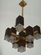 Lampadario Cubic Sciolari anni 70', Ceiling Lamp, rare