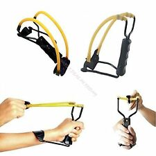 Folding Wrist-lock Sling Shot Slingshot High Velocity Brace Hunting Catapult
