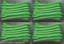 "(4) Green Double Braided 3/8"" x 15' ft Boat Marine HQ Dock Lines Mooring Ropes"