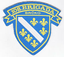 BOSNIA ARMY  MUSLIM  109 BRIGADE of BRCKO  war time sleeve patch