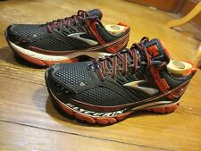 BROOKS GLYCERIN 10 MEN'S BLACK & RED NEUTRAL TRAINING RUNNING SHOES SIZE 8