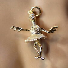9ct gold new  moveable dancing bird charm