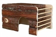 Wooden Ila House with Cave Hay Manger & Roof Lying Surface Guinea Pig Chinchilla