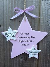 Handmade Personalised Plaque Sign Godchild Baby Baptism Christening Present Gift