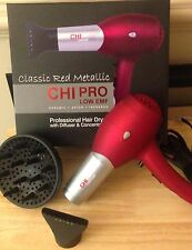 Brand New Chi Pro Low EMF Professional Hair Dryer sweetheart red valentines