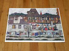 EGON SCHIELE poster manifesto affiche plakat Art Häuser mit bunter Wäsche