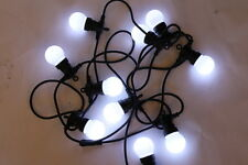 Garden Lighting - 10 White LED Light Festoon Sets- For Outdoor or Indoor Use-