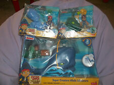 3 Captain Jake Never Land Pirates Ocean creature sets whale Squid  Angler New