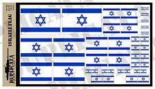 Diorama Accessory - Israeli Flag - 1/72, 1/48, 1/32, 1/35 Scales
