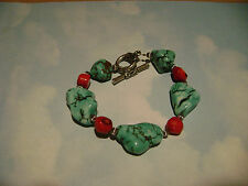 NWOT TURQOISE AND CORAL BRACELET