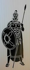 Greek hoplite warrior vinyl sticker decal for cars van vw t4 t5 fun 5363 Black