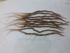 100% Human Hair Locks handmade 10 dreadlocks up 10''  small Blonde soft texture