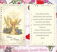Body of Christ - Communion Prayer - Laced  Holy Card