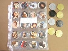 POGS/MILKCAPS STAR WARS BY TOPPS COMPLETE SET OF ALL (88) POGS, SLAMMERS MIX