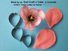 Tulip Cutter & Veiner  - Cake Decorating Sugar Flower Gum Paste Tools