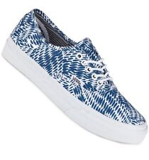 NEW Vans Womens 7 Authentic Slim Mixed Geo Navy Blue White Sneakers Shoes Skate