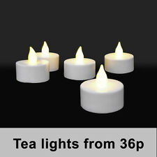 Flickering LED Tea Light Candles Battery 50 hour life 20 Pack