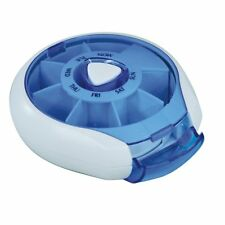 Aidapt Blue Compact Weekday Pill Dispenser Compact Per Day Tablet Box