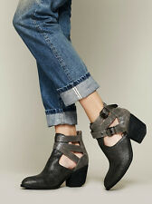 FREE PEOPLE CRACKLE OVERHOLT ANKLE BOOT BOOTIES JEFFREY CAMPBELL SHOES 7.5 $168