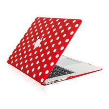 "Polka Dot RED Ultra Slim Matte Hard Case for Macbook Air 13"" A1369 & A1466"