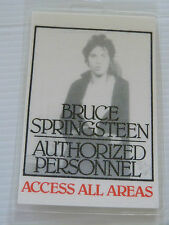 BRUCE SPRINGSTEEN Laminated AUTHORIZED PERSONNEL Backstage Tour Pass