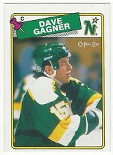 1988-89 OPC HOCKEY #215 DAVE GAGNER ROOKIE - NEAR MINT-