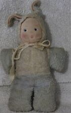 ANTIQUE 1930'S CHILD'S STUFFED MASKED BUNNY RABBIT