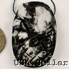 Peculiar! Natural Zebra Agate Carved Dog Pendant Bead