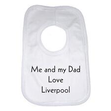 Mi papá y yo Amor Liverpool Babero De Bebé Regalo Divertido actual