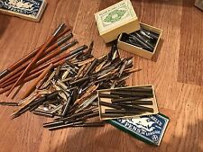Huge Lot Of 100's Of Antique / Vintage Fountain Pen Dip Pen Nibs Various Makes