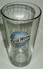 BEER DRINKING GLASS COLLECTABLE BLUE MOON BELGIAN STYLE