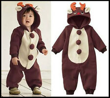 Baby Animal REINDEER Romper Xmas Outfit Christmas Fancy Dress Costume 6-12m