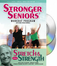 Stronger Seniors® Stretch and Strength DVDs- 2 disc Chair Exercise Program-(DVD)