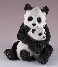 """Panda Mother and Baby Cub Figurine 4.25""""H Highly Detailed Polystone New In Box"""