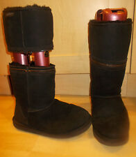 Ladies REDFOOT Black Sheepskin Zippy Adaptable Flat boots - Size UK 7 - EU 40-41