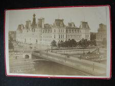 Photographie ancienne monument Paris Hôtel de ville  vers 1890 Debitte & Hervé